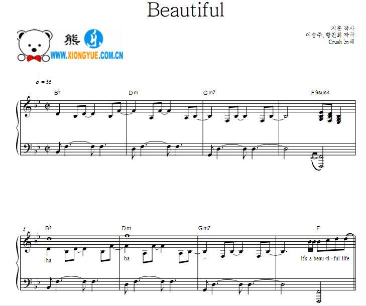 钢琴谱 - 熊乐