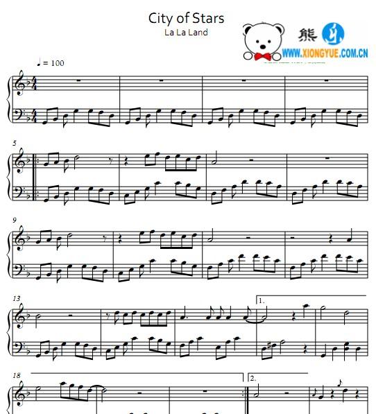 stars钢琴谱 简单版