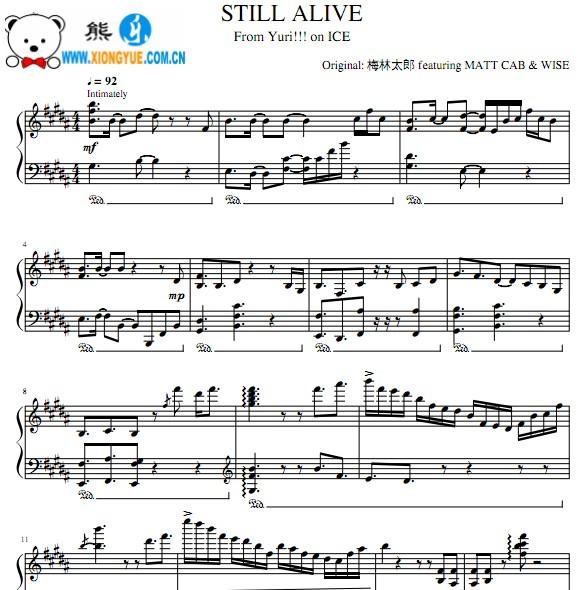 yurionice钢琴曲谱-on ice 钢琴谱
