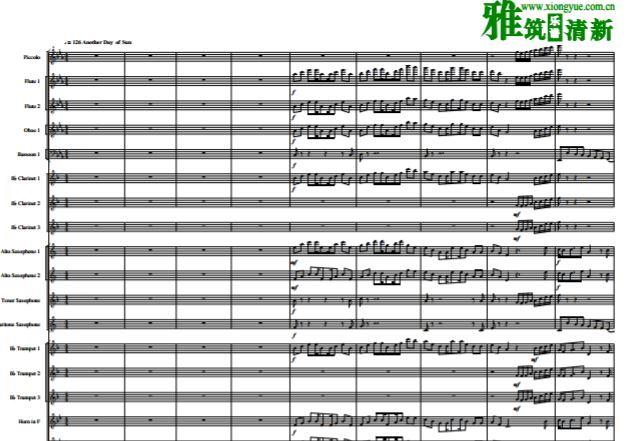 乐之城组曲交响管乐合奏谱