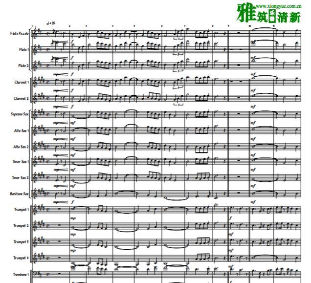 acito管乐合奏谱 管乐 打击乐