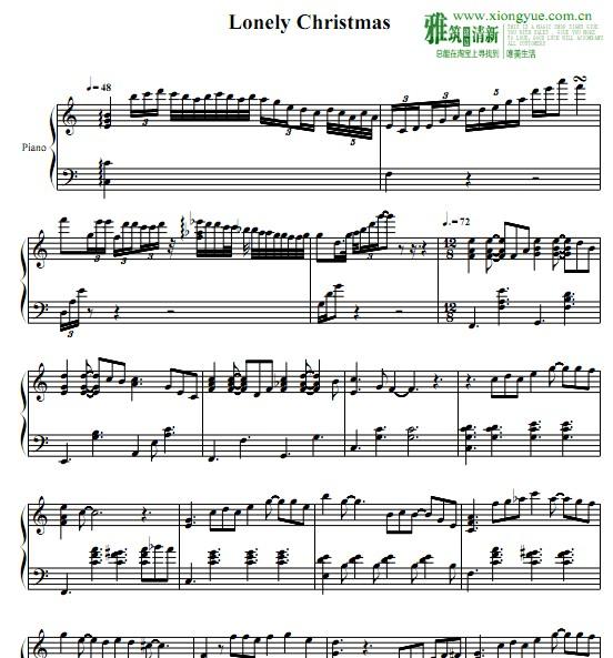 陈奕迅 圣诞结钢琴谱 - 熊乐