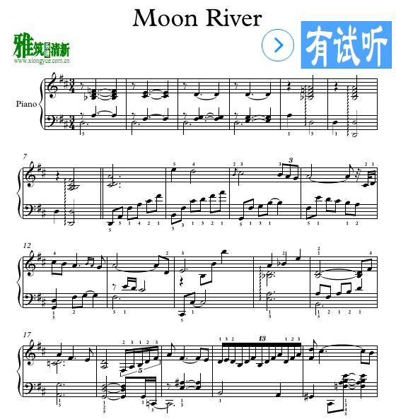 爵士版moon river钢琴谱