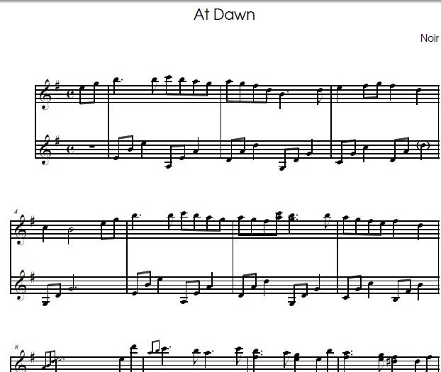梶浦由记at dawn钢琴谱