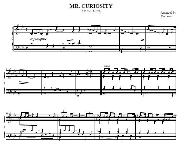 mr. curiosity钢琴谱 的软件界面